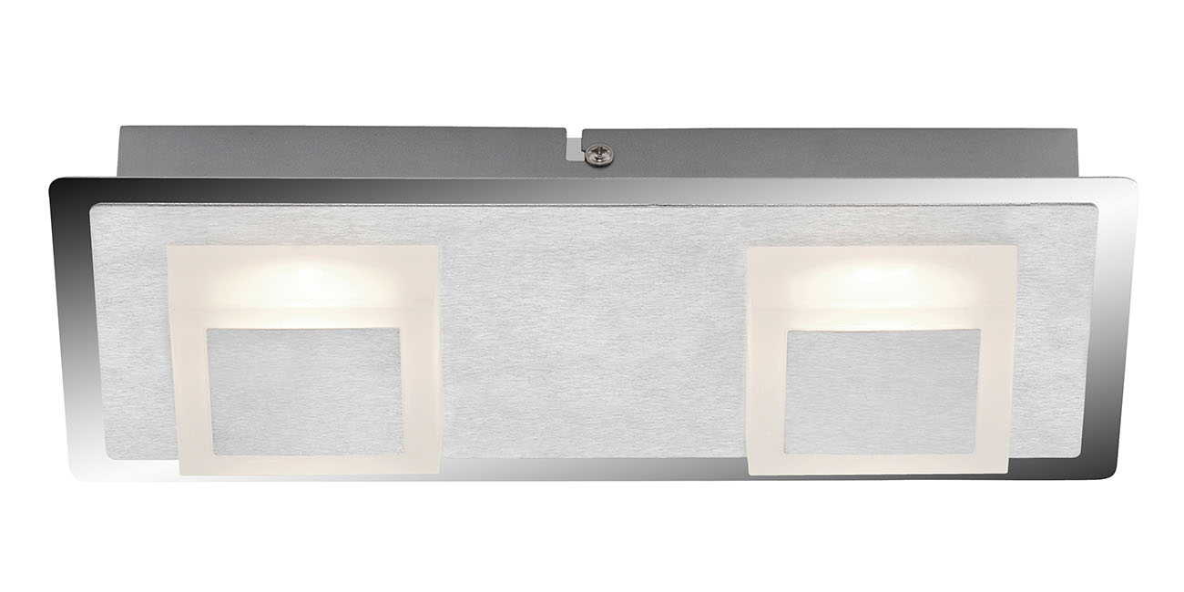 LED Deckenleuchte, 28 cm, 10 W, Alu-Chrom