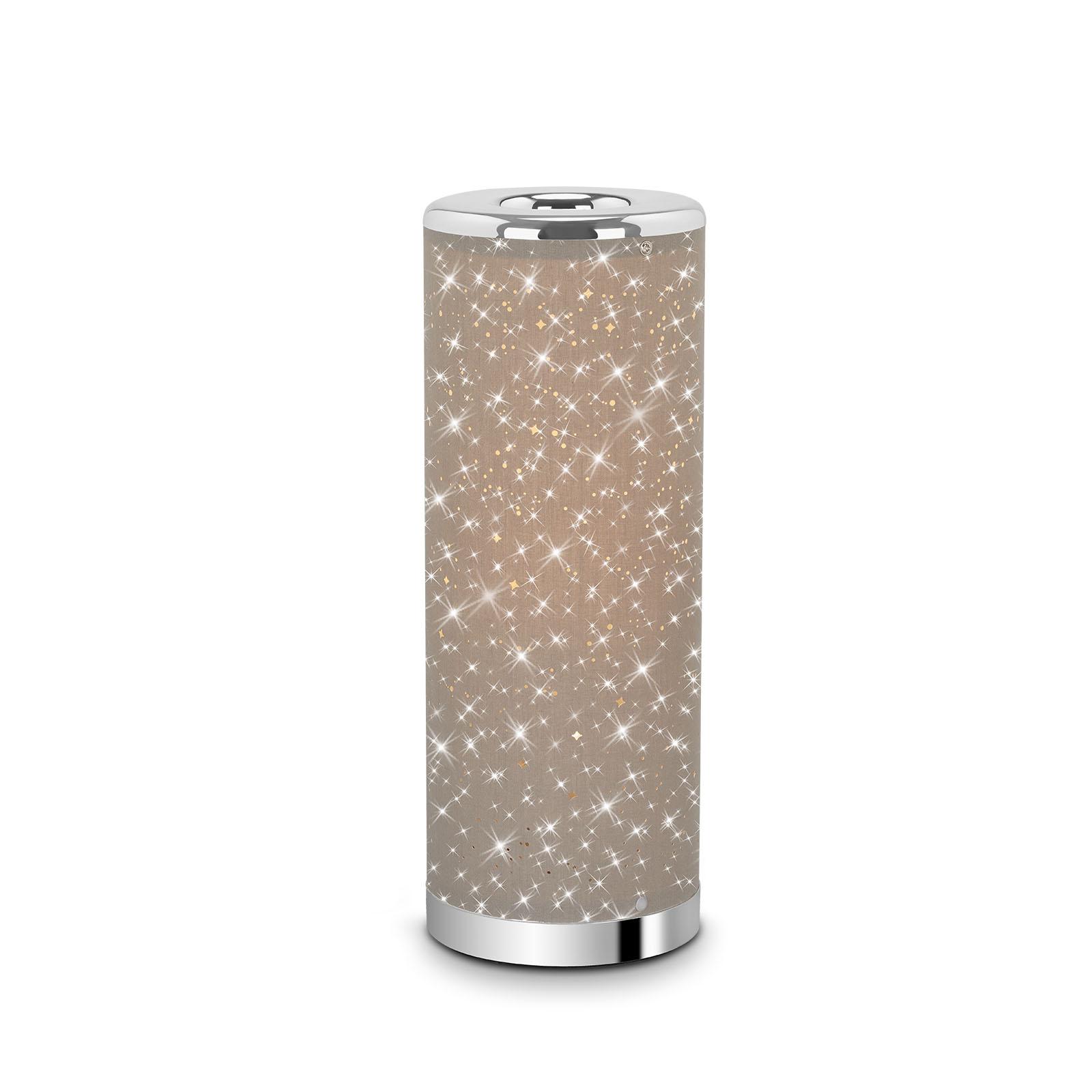 Sternenhimmel LED-Tischleuchte Taupe-Chrom