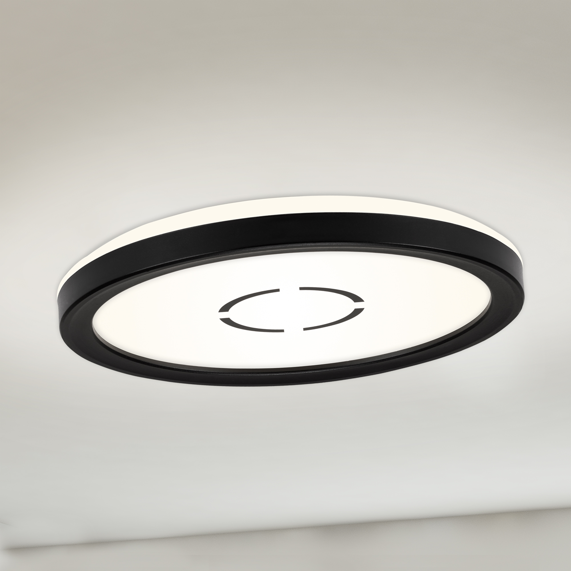 Slim LED Panel, Ø 19 cm, 1400 LUMEN, 12 WATT, Schwarz
