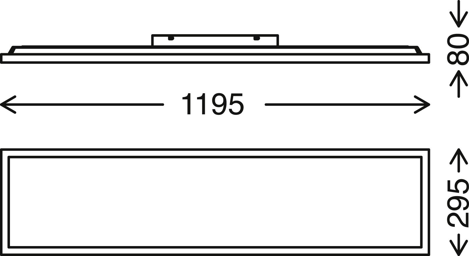 CCT LED Panel, 119,5 cm, 3800 LUMEN, 36 WATT, Chrom-Matt