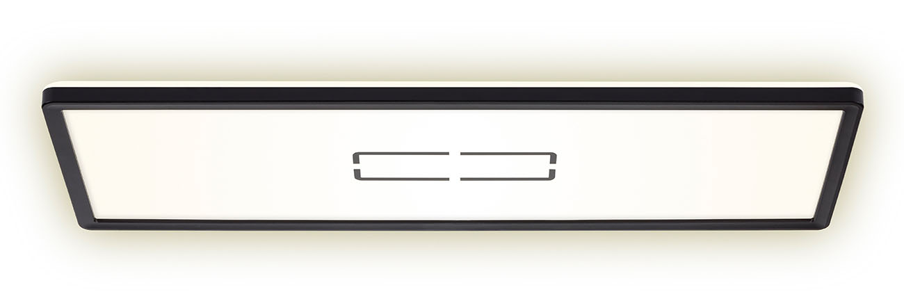 Slim LED Panel, 58 cm, 2700 LUMEN, 22 WATT, Schwarz