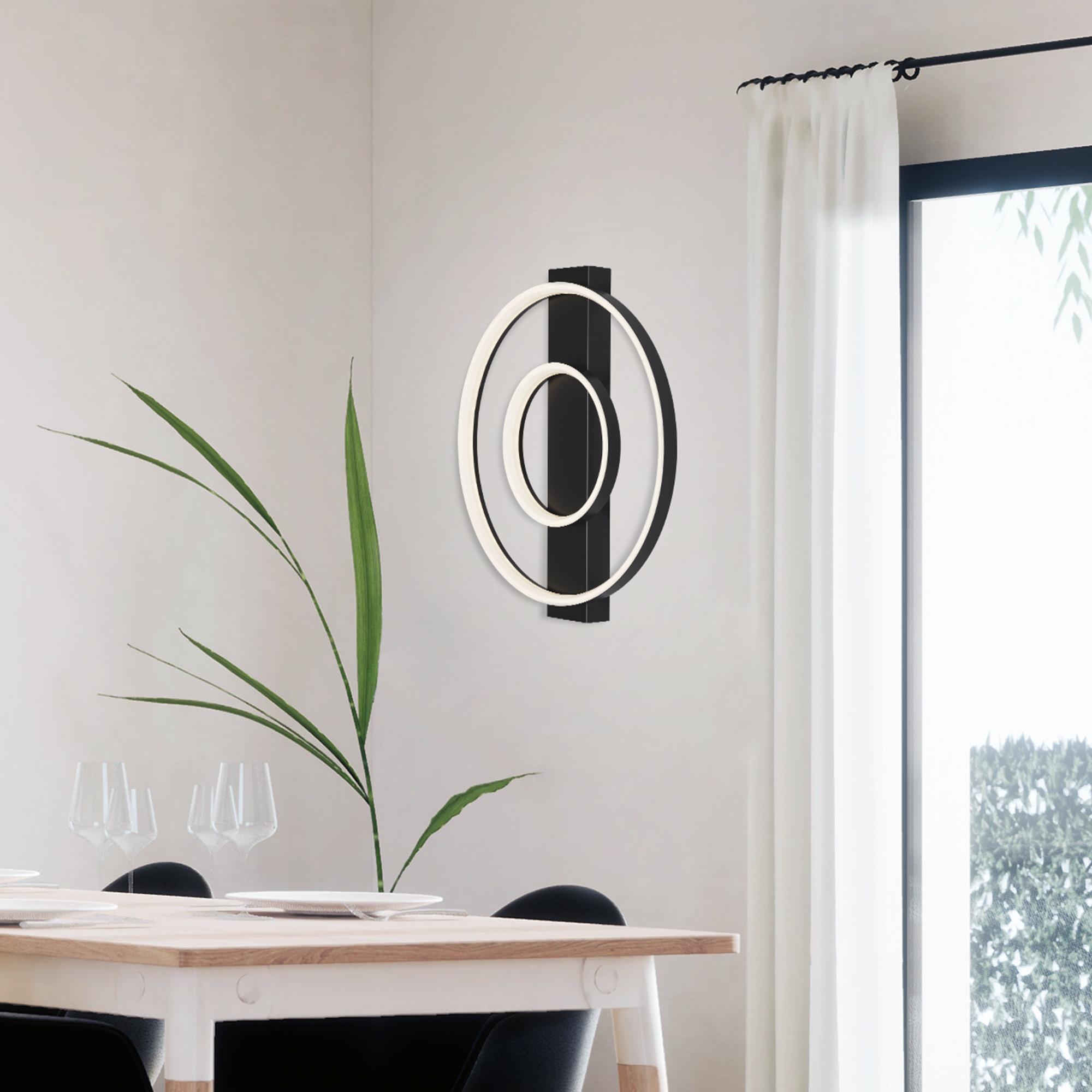 LED Wand- und Deckenleuchte Schwarz