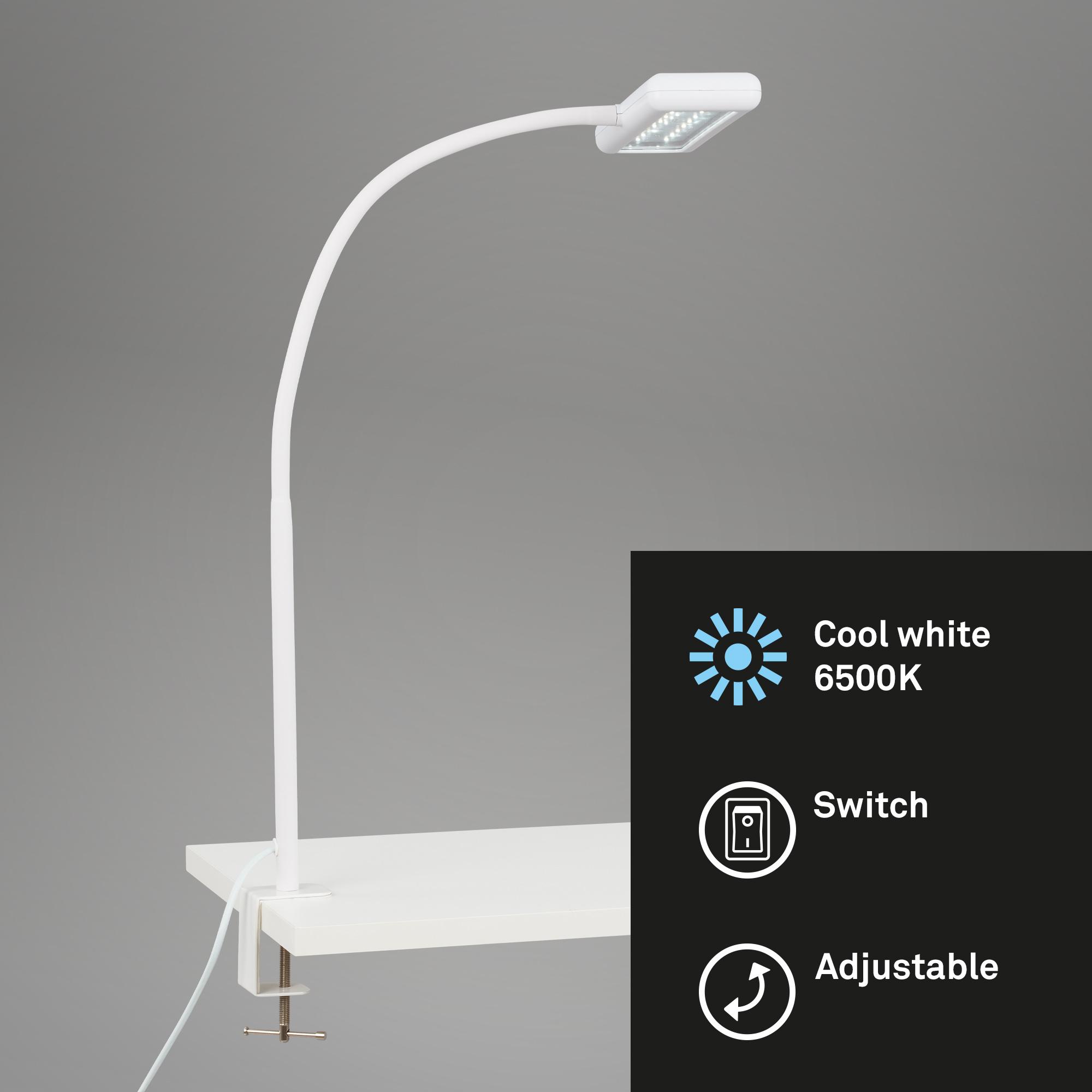 LED Tageslicht Klemmleuchte, 55 cm, 7,5 W, Weiß