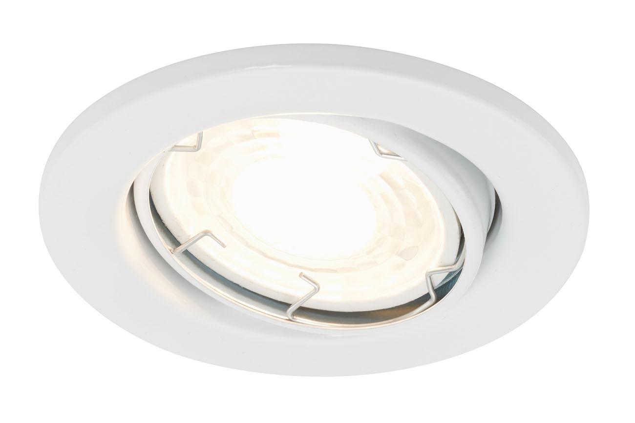 3er-Set Spot Einbauleuchte, Ø 8,6 cm, 5,5 W, Weiss