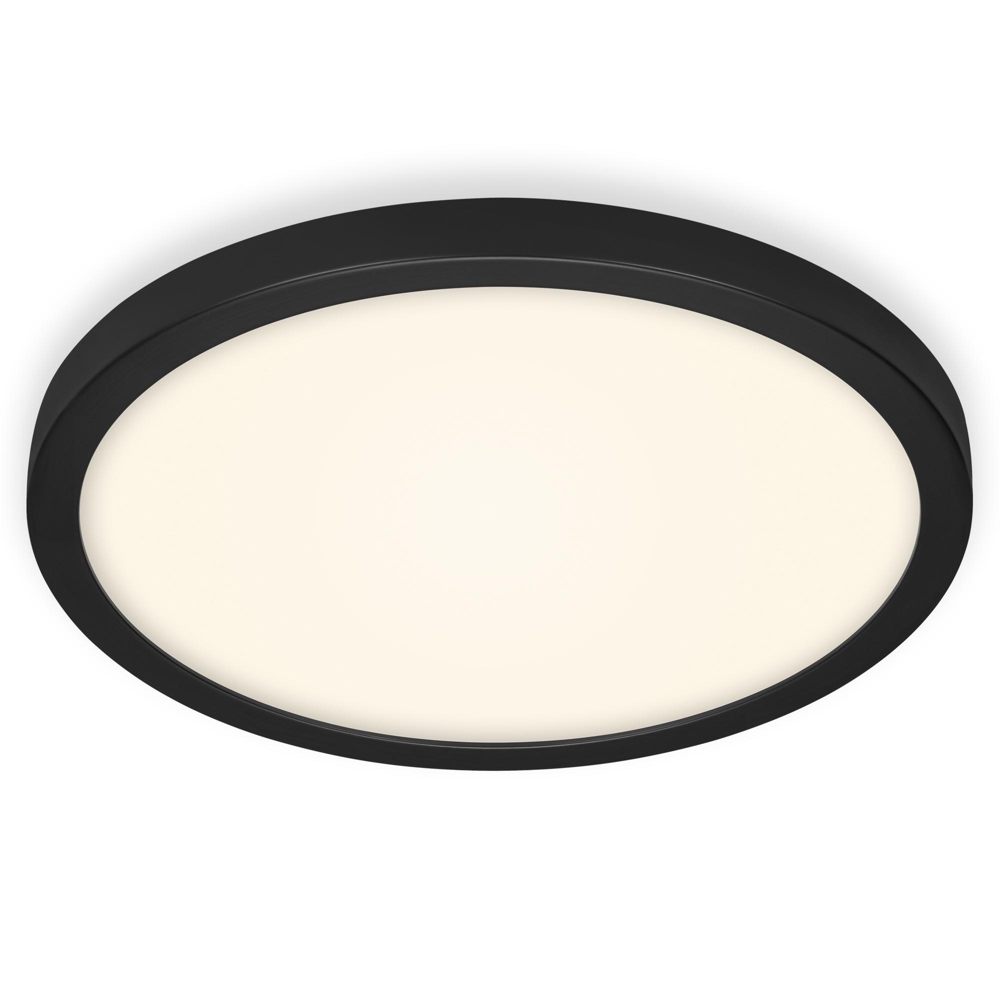 LED Deckenleuchte, Ø 40,5 cm, 25 W, Schwarz