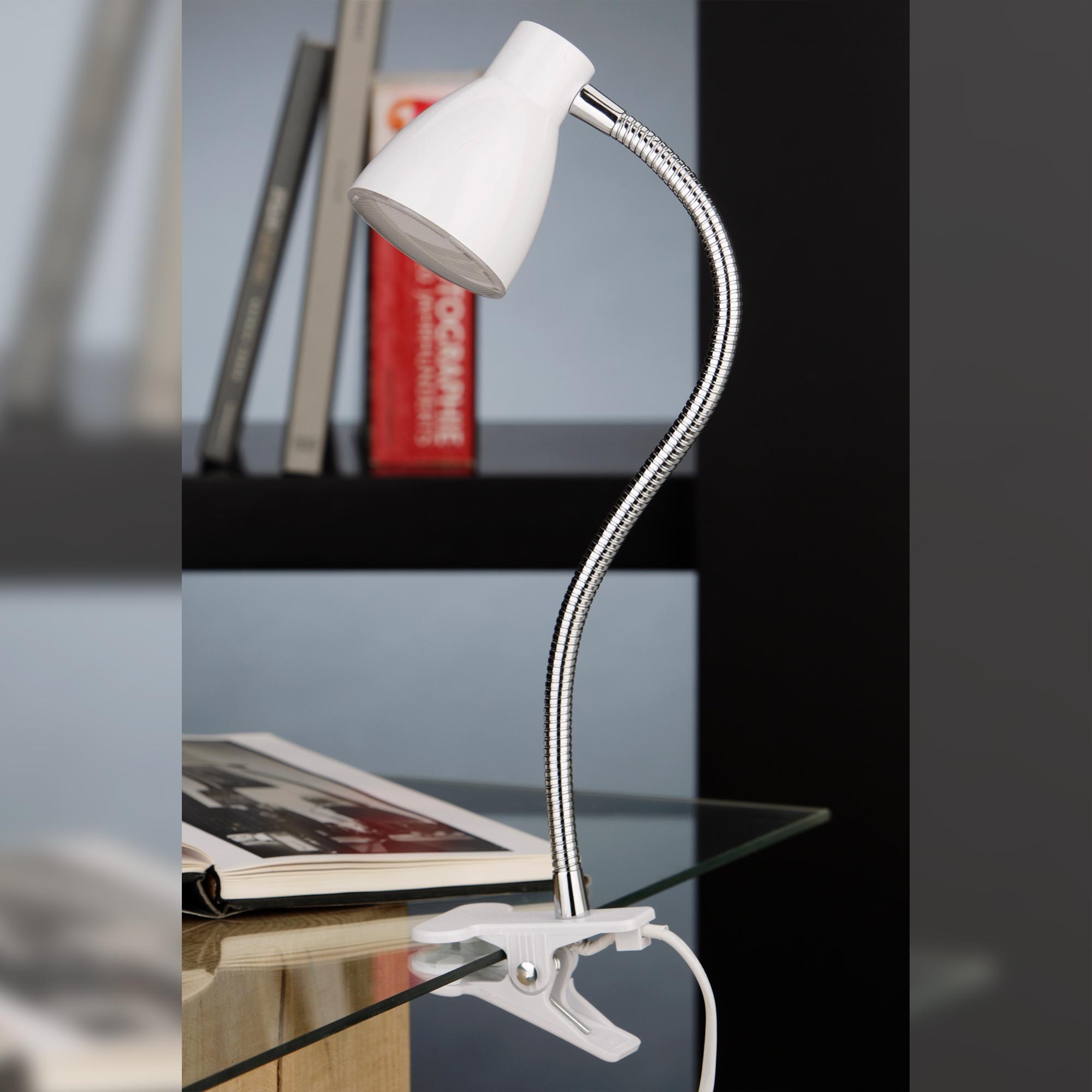 LED Klemmleuchte Weiß