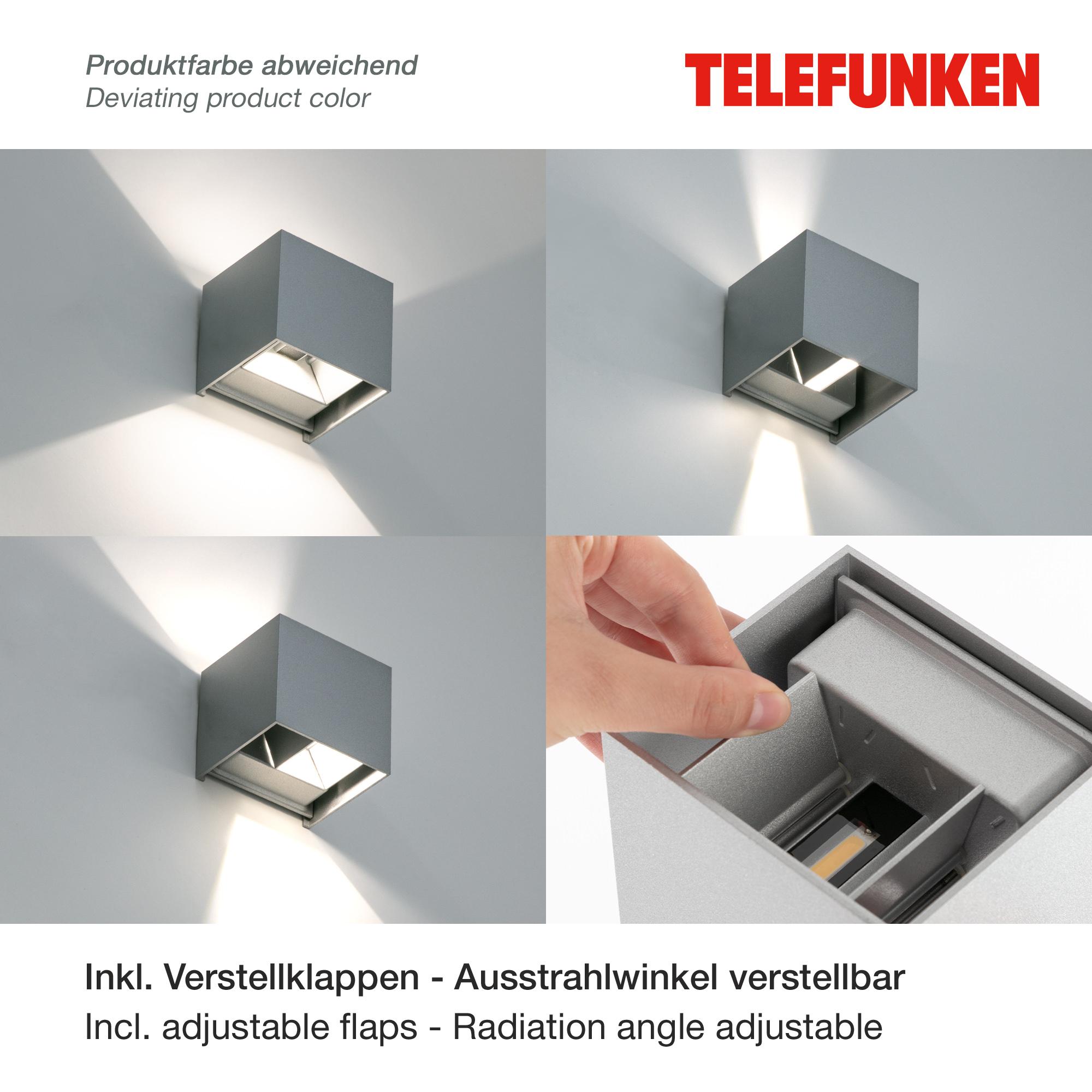 TELEFUNKEN LED Außenwandleuchte Anthrazit