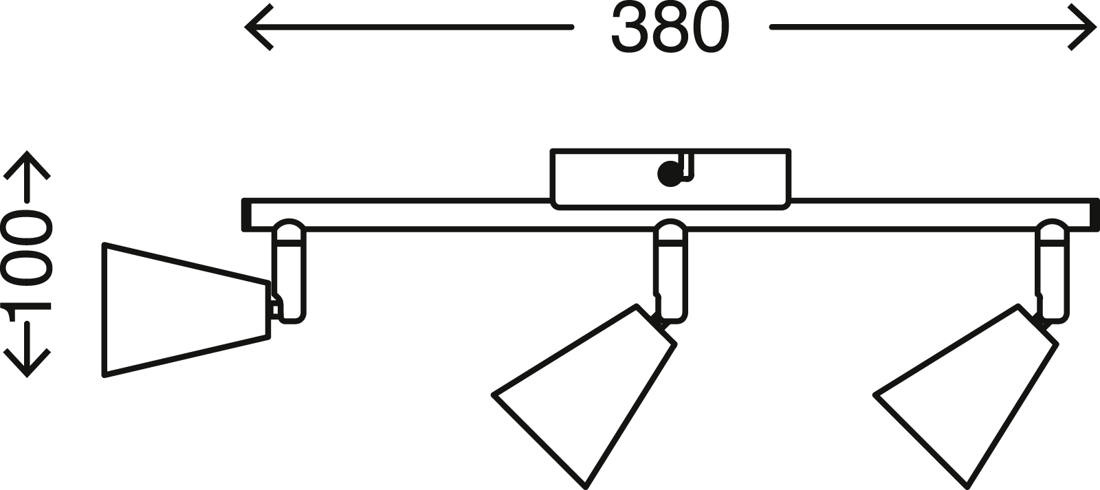 LED Spot Deckenleuchte, 38 cm, 15 W, Gold