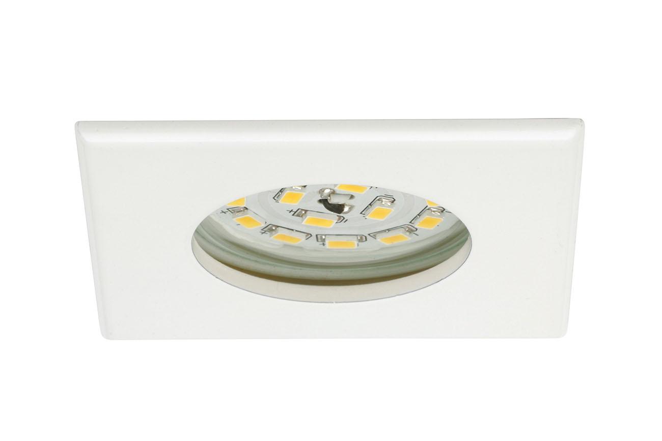 3er Set LED Einbauleuchte, 7,5 cm, 5 W, Weiß