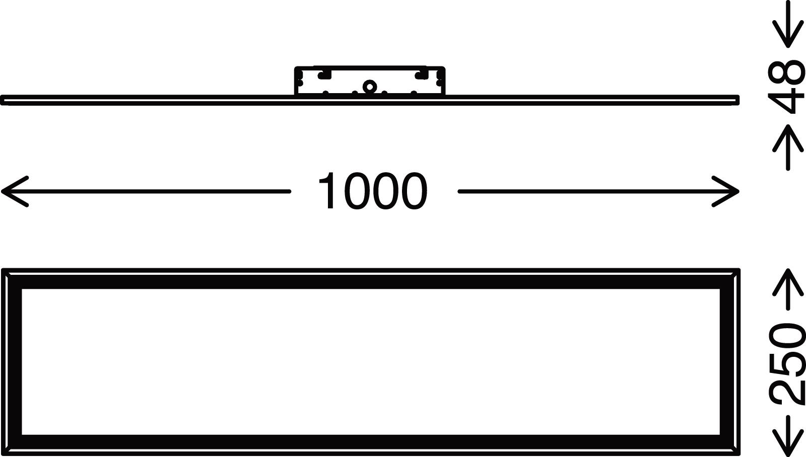 TELEFUNKEN Sensor LED Panel, 100 cm, 23 W, Weiss