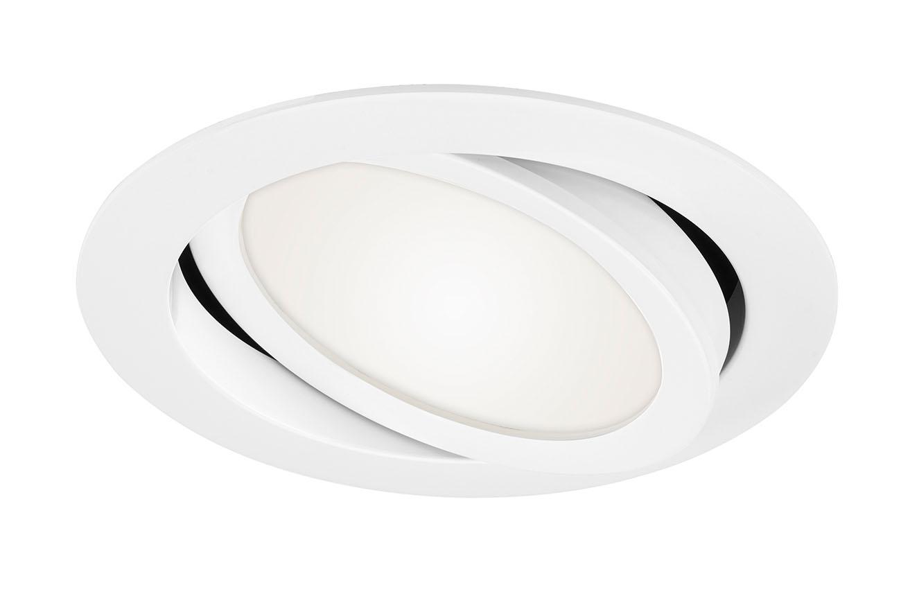 LED Einbauleuchte, Ø 14 cm, 9 W, Weiß