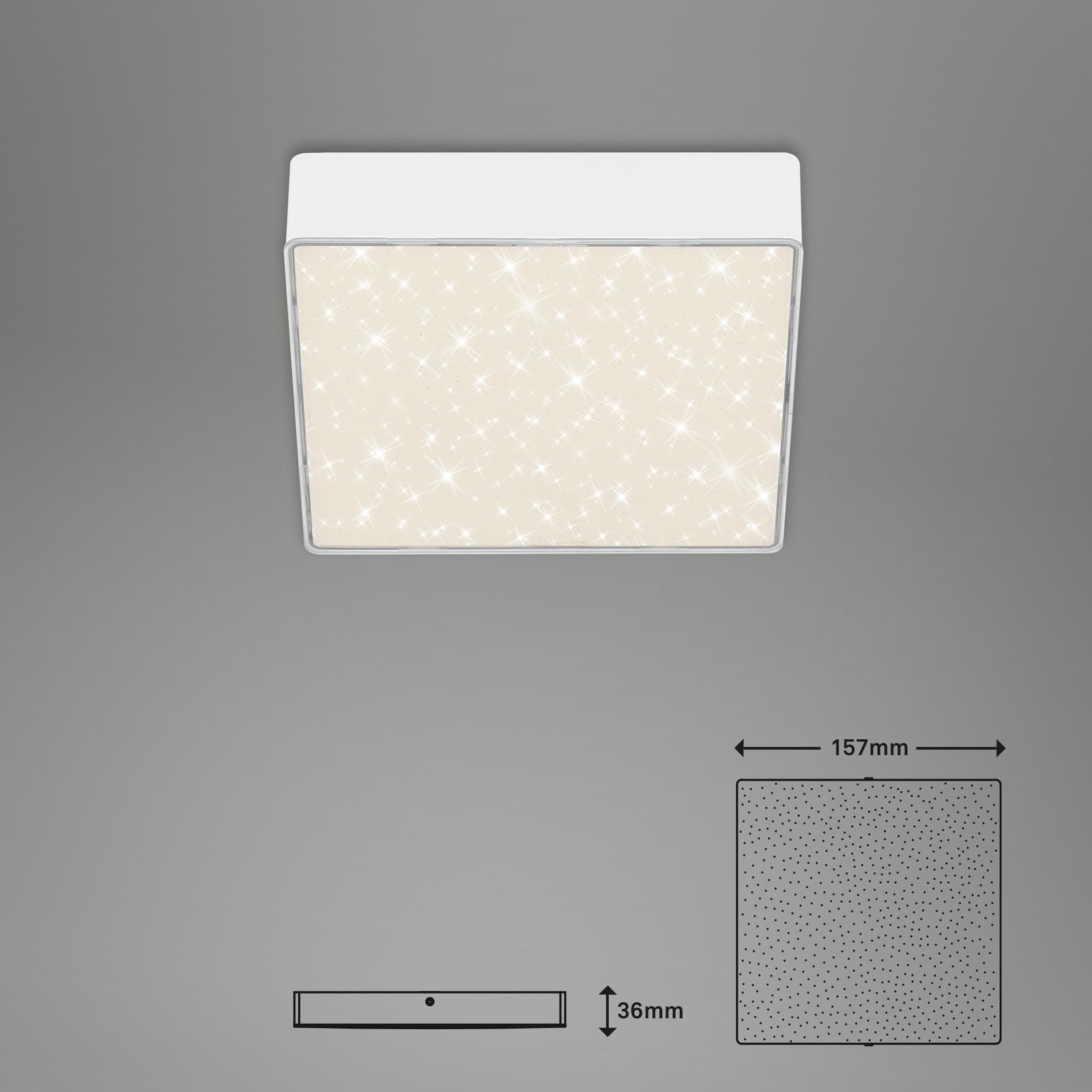 Sternenhimmel LED Deckenleuchte weiß Maßzeichnung