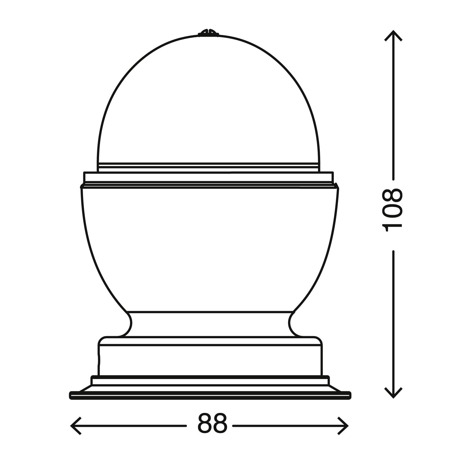 RGB LED Tischleuchte, Ø 8,8 cm, 3 W, Schwarz