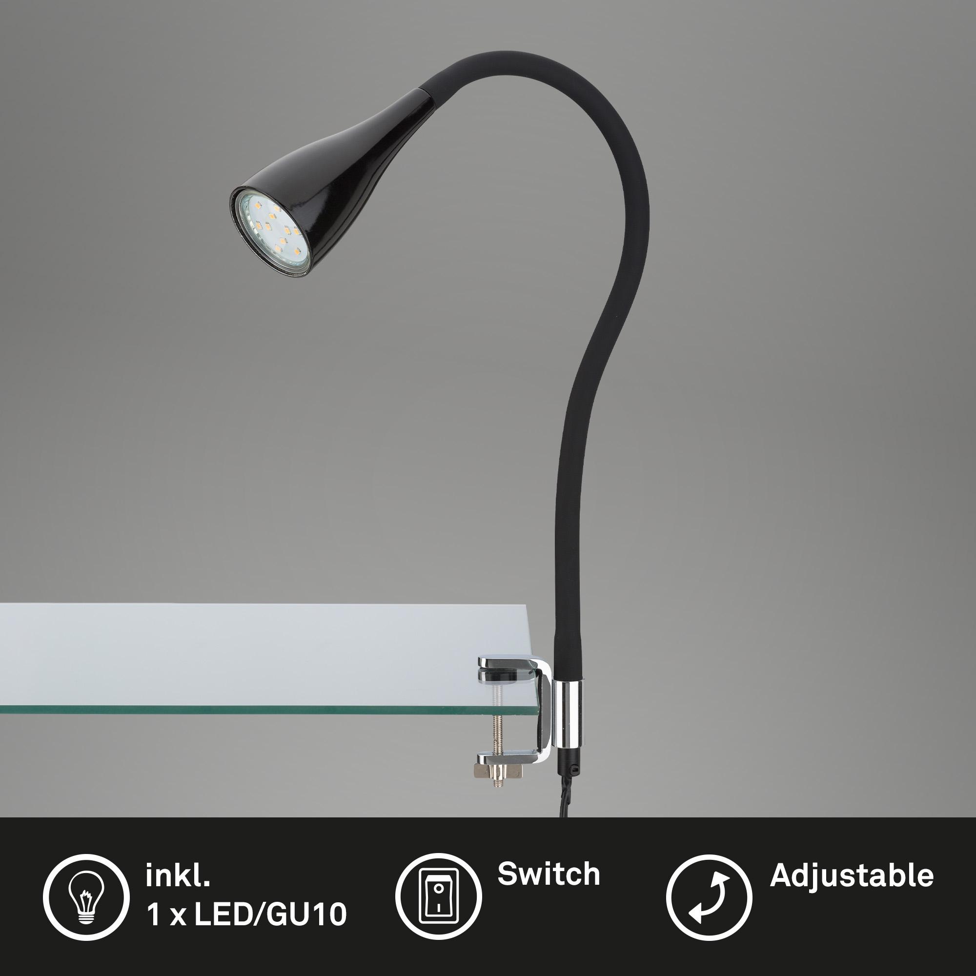 LED Klemmleuchte Schwarz