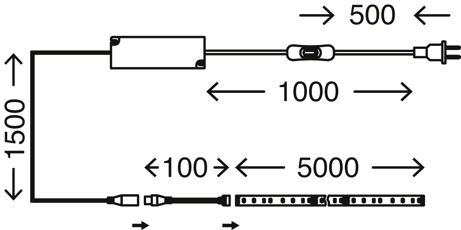 LED Flexband, 5 Meter, 60 W, Silber