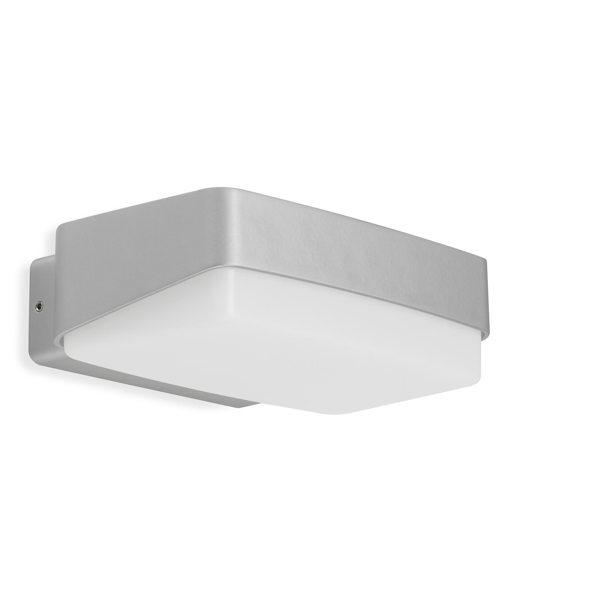 TELEFUNKEN LED Außenwandleuchte, 18,2 cm, 14 W, Silber