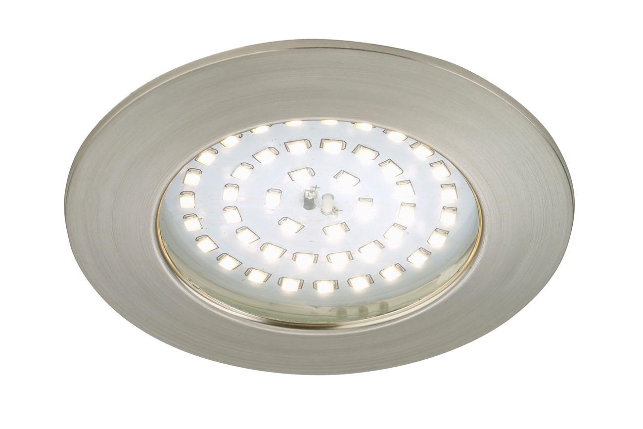 LED Einbauleuchte, Ø 10 cm, 10,5 W, Matt-Nickel