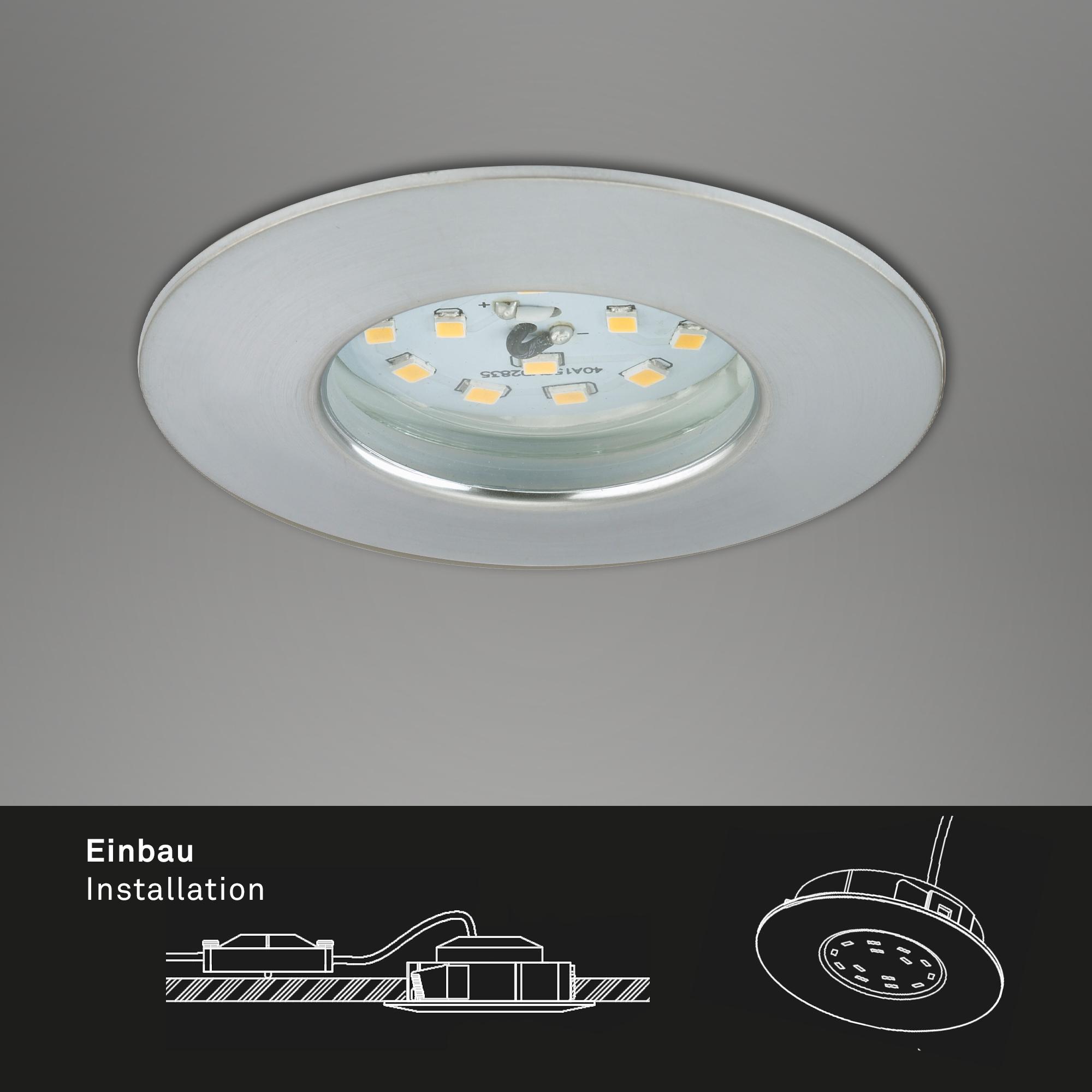 LED Einbauleuchte, Ø 7,5 cm, 6,5 W, Alu