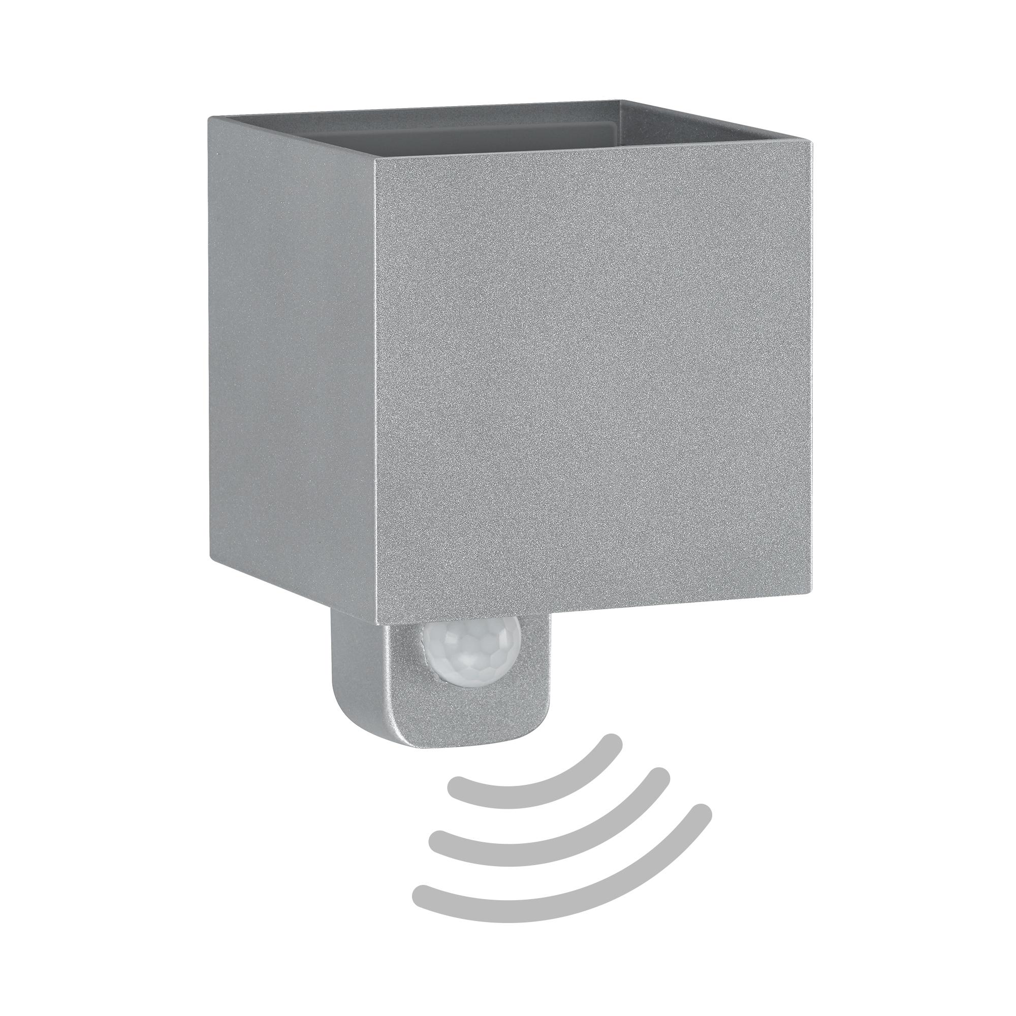 TELEFUNKEN LED Außenwandleuchte, 11 cm, 7 W, Silber
