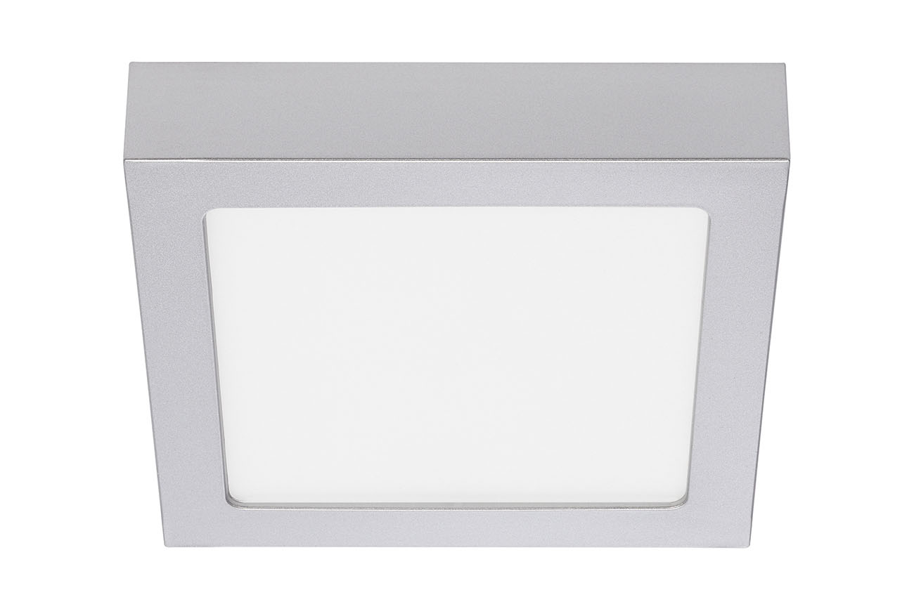 LED Deckenleuchte, 17 cm, 12 W, Chrom-Matt, Metall
