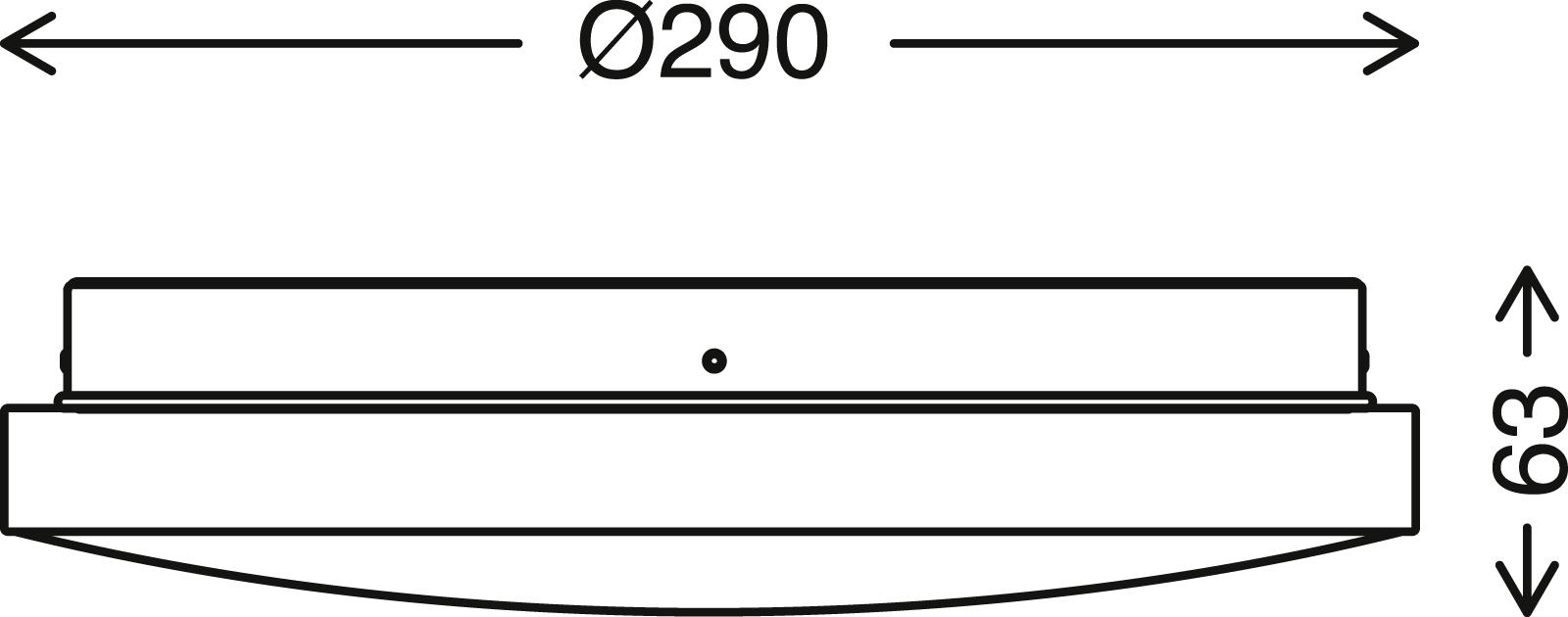 TELEFUNKEN Sensor LED Deckenleuchte, Ø 29 cm, 16 W, Weiss-Schwarz