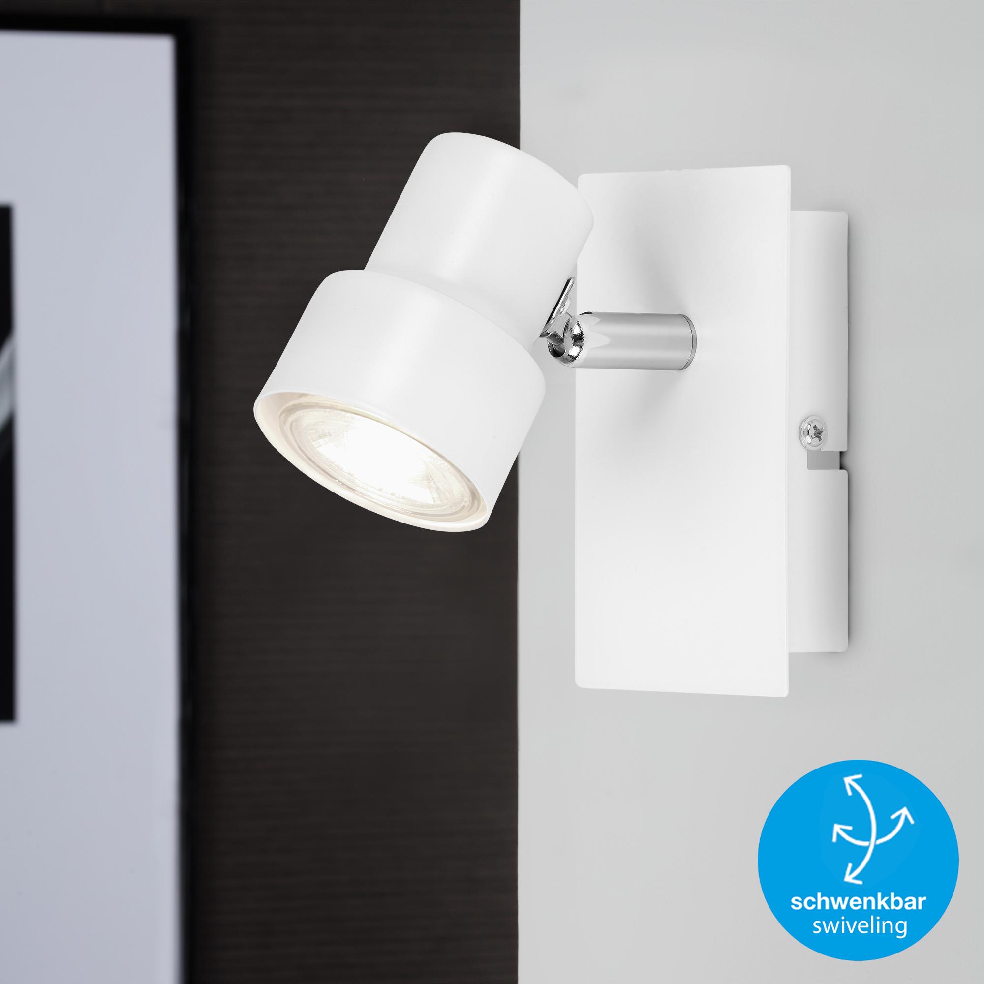 LED Spot Wand- und Deckenleuchte Weiß