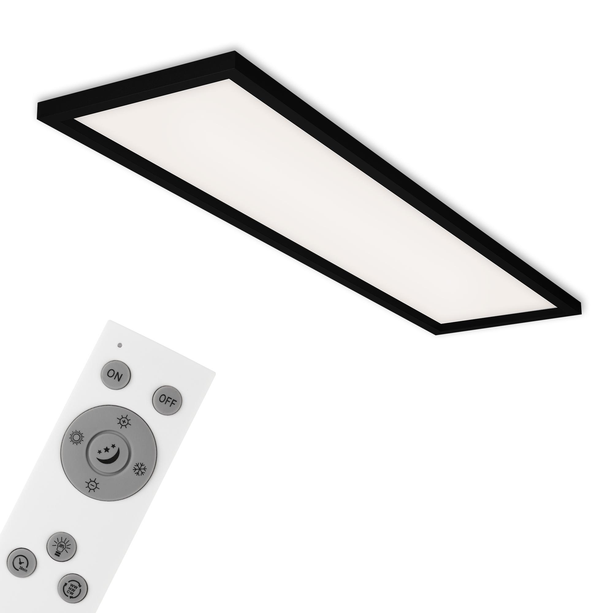CCT LED Panel, 119,5 cm, 3800 LUMEN, 36 WATT, Schwarz