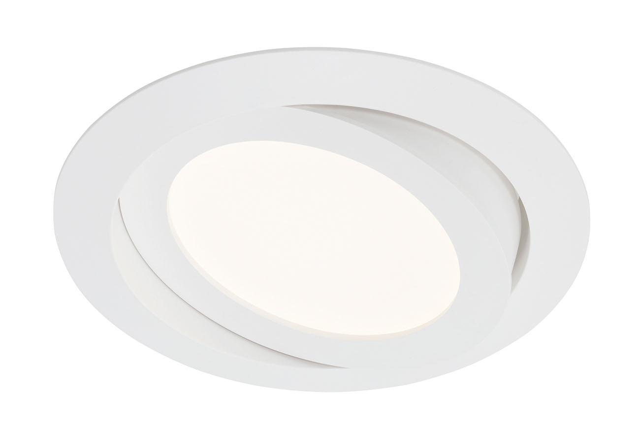 LED Einbauleuchte, Ø 14 cm, 6,4 W, Weiß