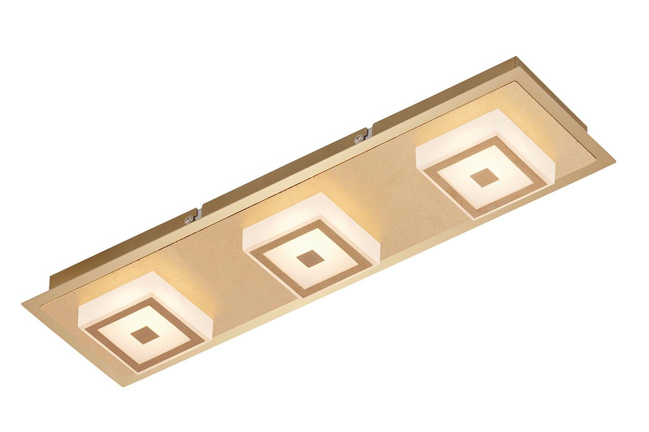 LED Deckenleuchte, 44 cm, 15 W, Gold