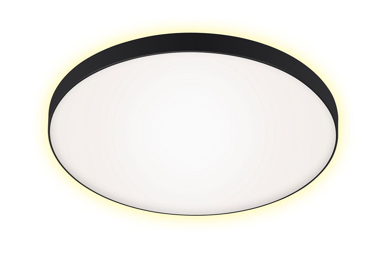 LED Deckenleuchte, Ø 35,5 cm, 18 W, Schwarz-Weiss
