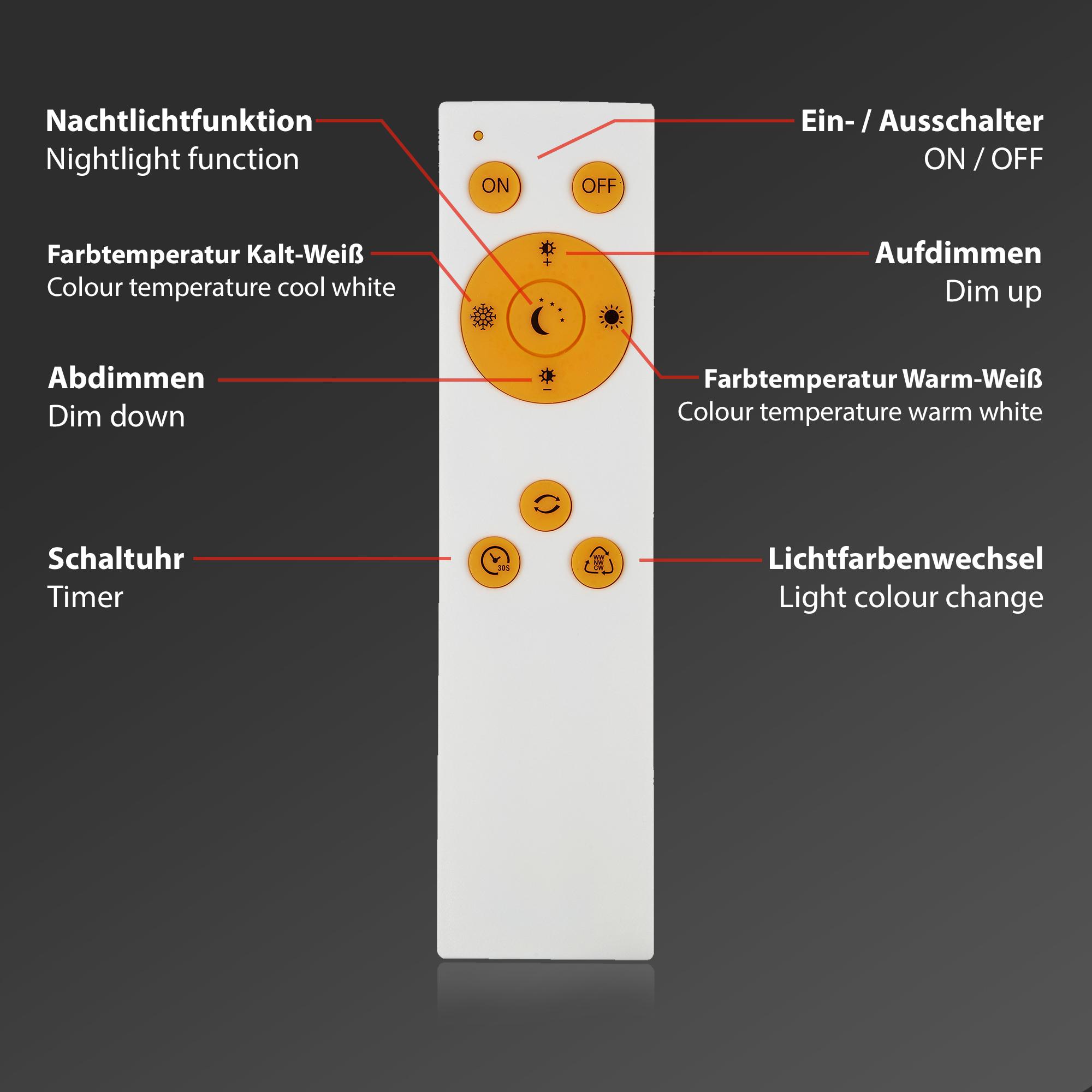 STERNENHIMMEL LED Deckenleuchte, Ø 28 cm, 15 W, Weiss