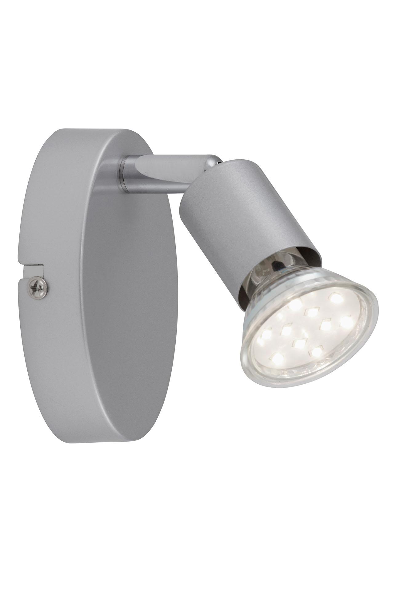 LED Spot Wandleuchte, 10,5 cm, 3 W, Titan