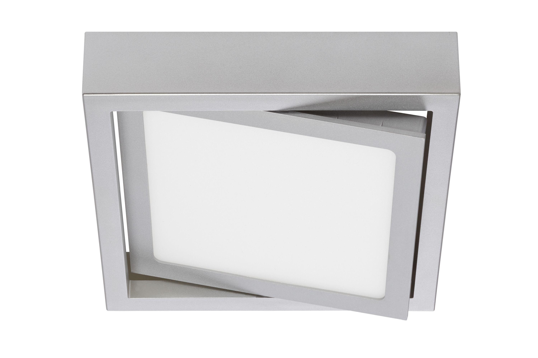 LED Deckenleuchte, 18 cm, 12 W, Chrom-Matt