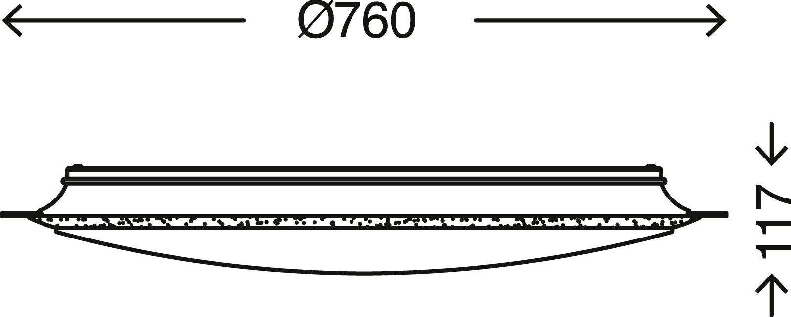STERNENHIMMEL LED Deckenleuchte, Ø 76 cm, 80 W, Weiß-Titan