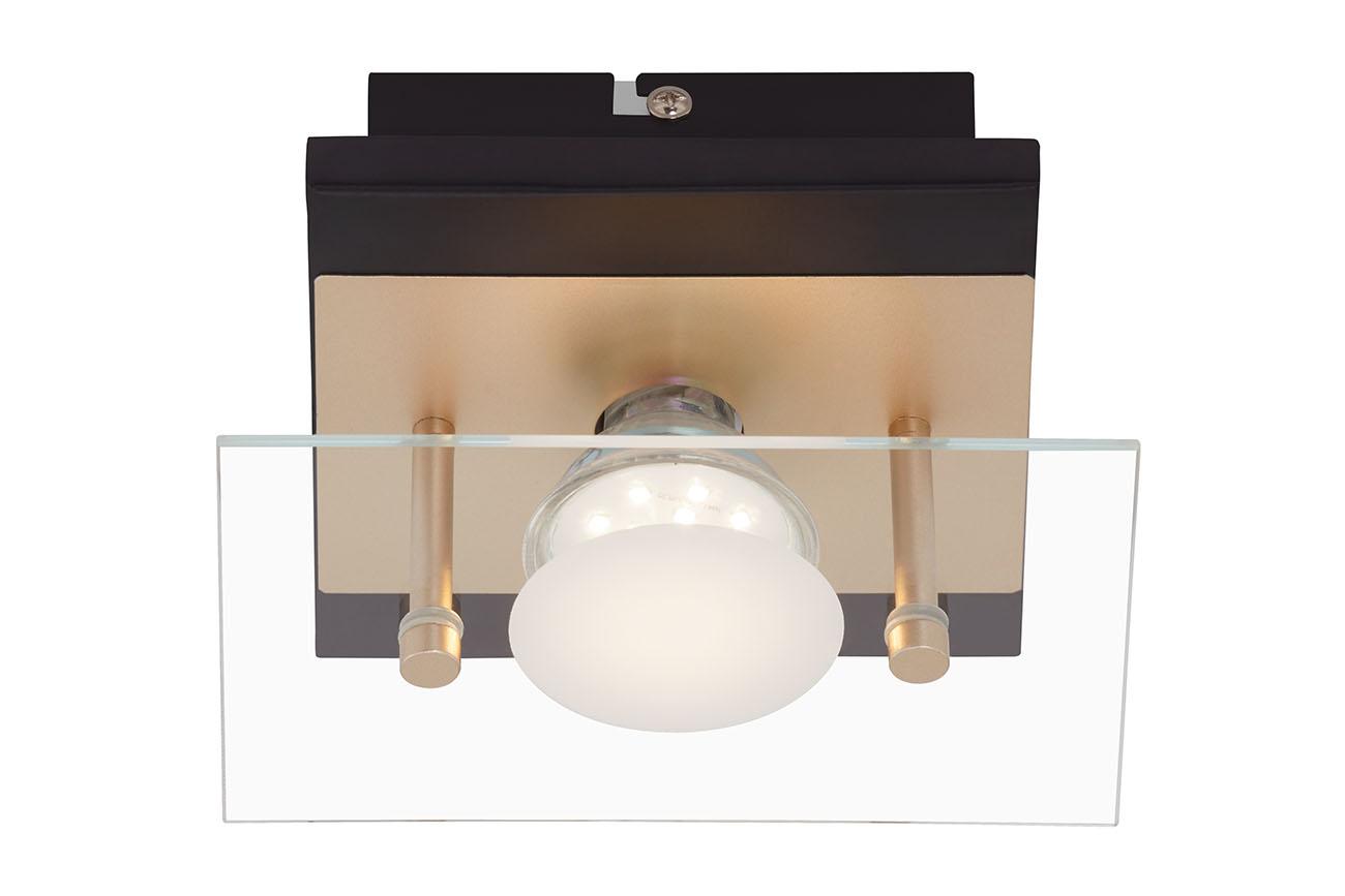 LED Deckenleuchte, 15 cm, 4 W, Schwarz-Gold