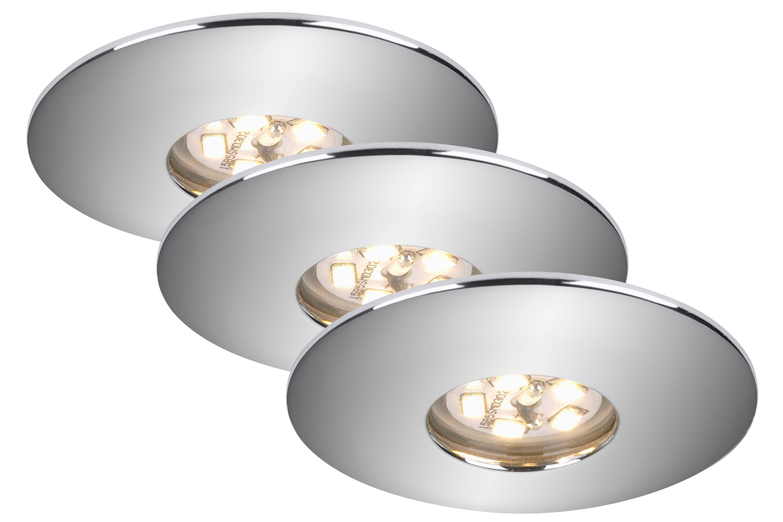 3er Set LED Einbauleuchte, Ø 4,5 , 1,8 W, Chrom