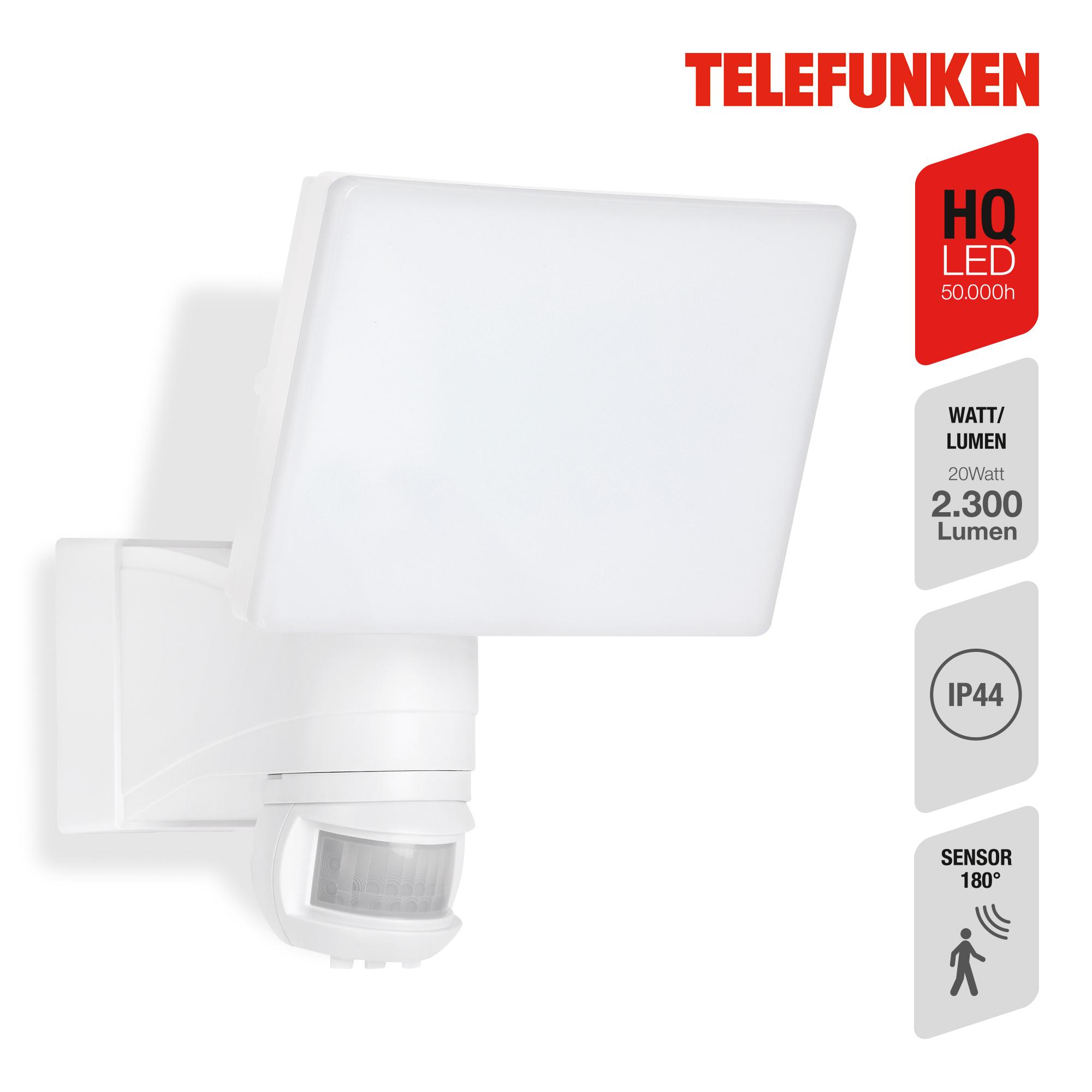TELEFUNKEN LED Sensor Außenstrahler Weiß