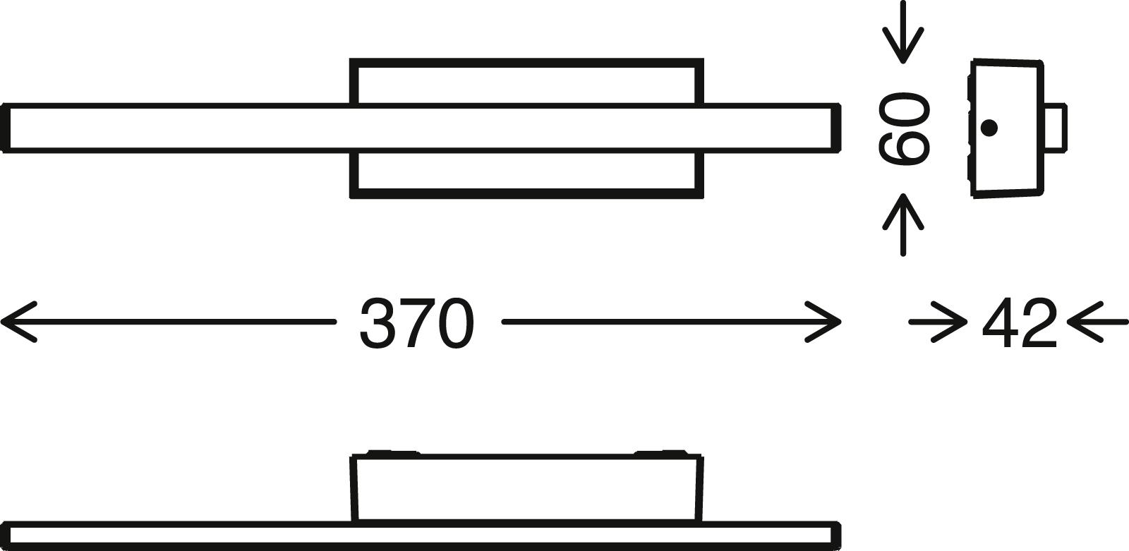 TELEFUNKEN LED Aussenwandleuchte, 37 cm, 4 W, Schwarz