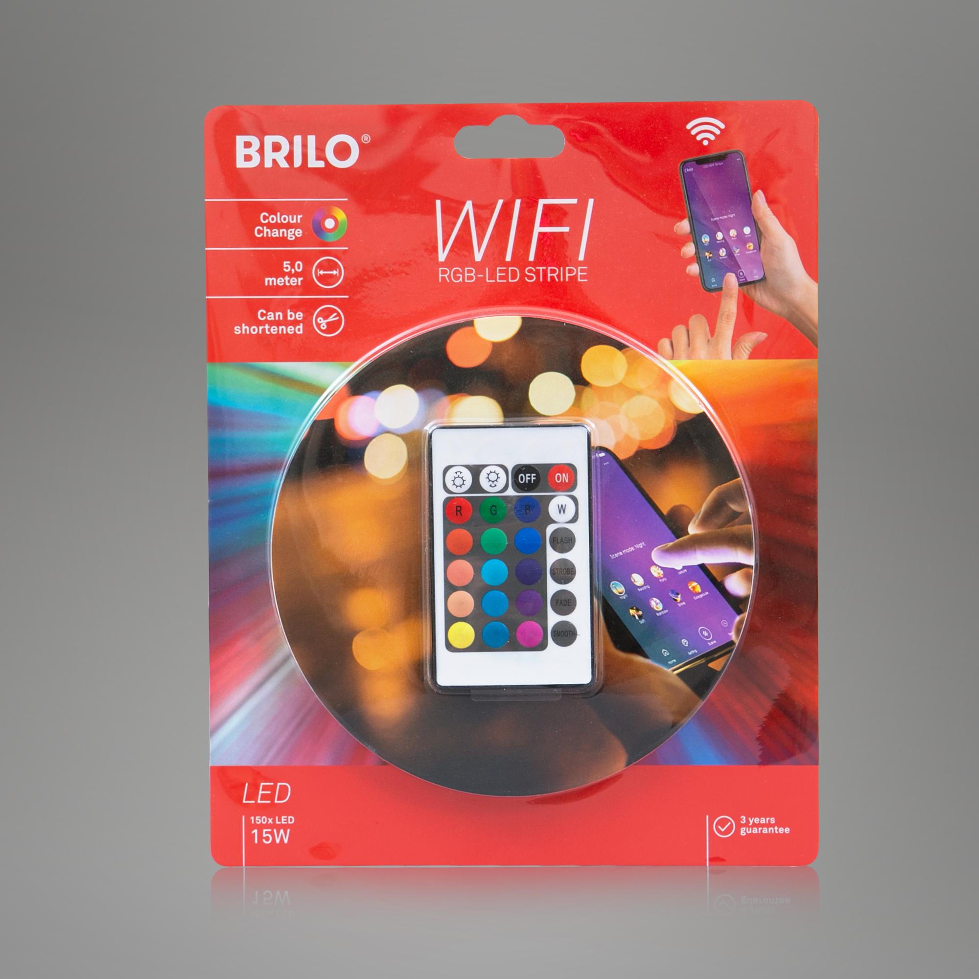 WIFI RGB-LED Flexband, 500 cm, 0,1 W, Weiss