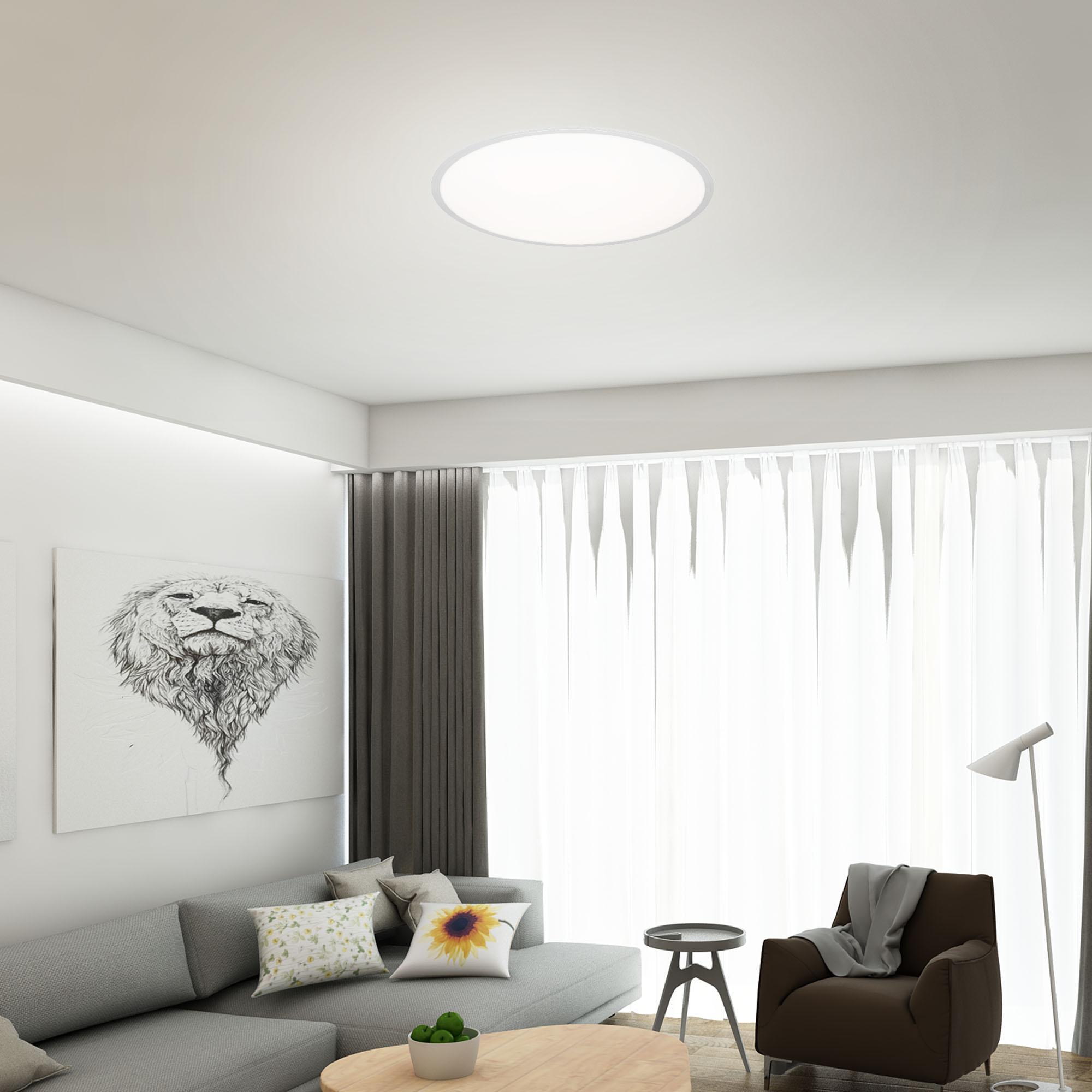 CCT LED Panel Silber