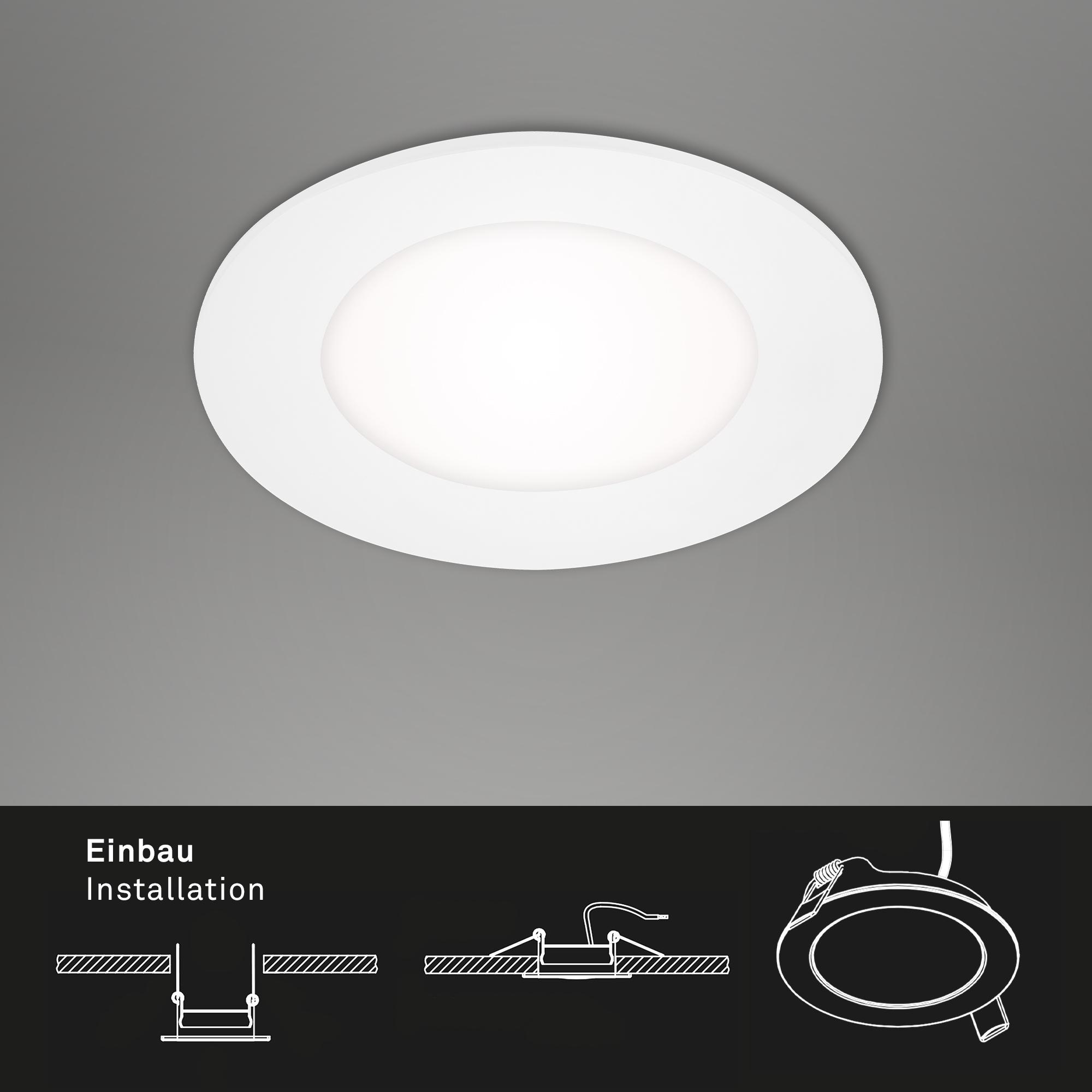 3er Set LED Einbauleuchten Weiß