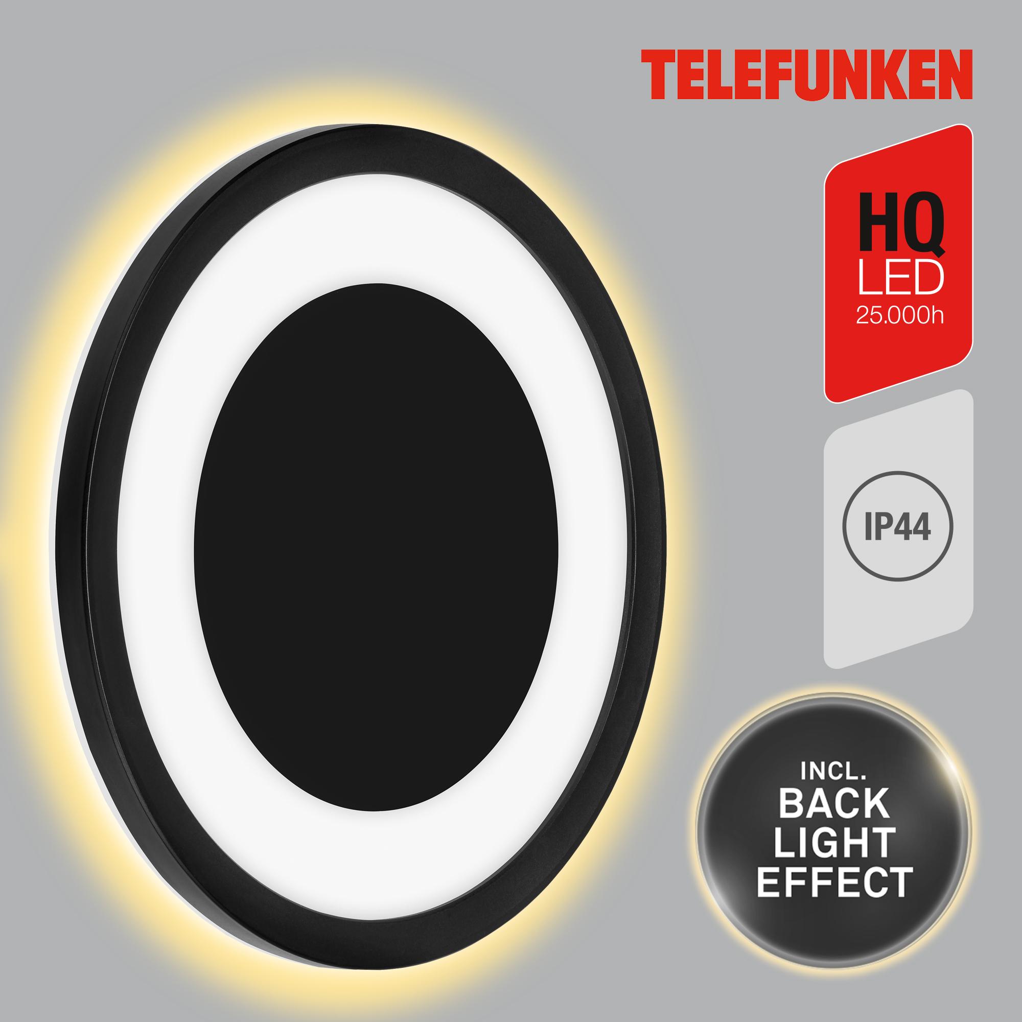 TELEFUNKEN LED Außenwandleuchte Schwarz