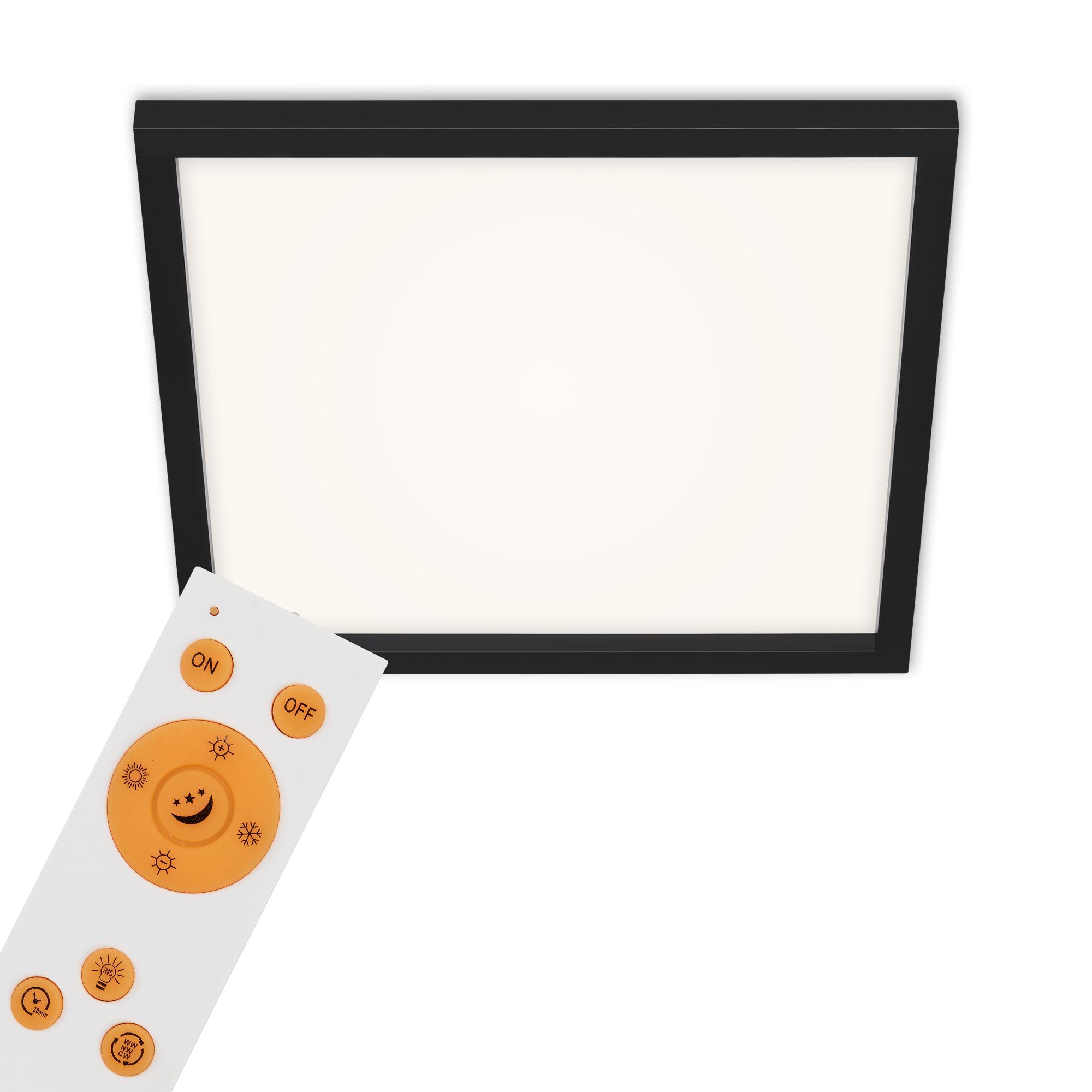 CCT LED Panel, 44,5 cm, 2400 LUMEN, 24 WATT, Schwarz