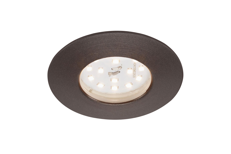 LED Einbauleuchte, Ø 7,5 cm, 6,5 W, Silber