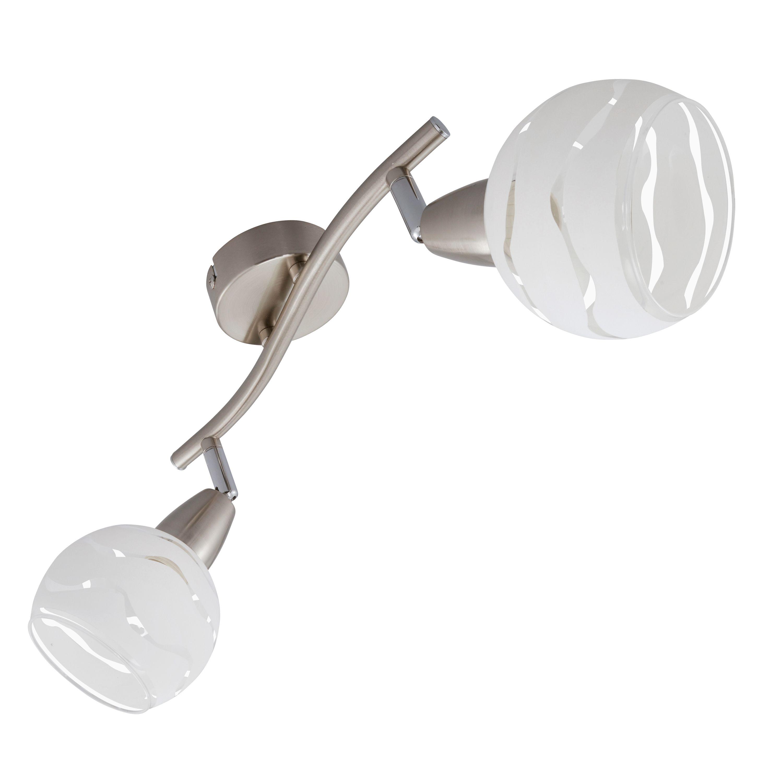 Spot Deckenleuchte, 28,5 cm, max. 40 W, Matt-Nickel-Weiß