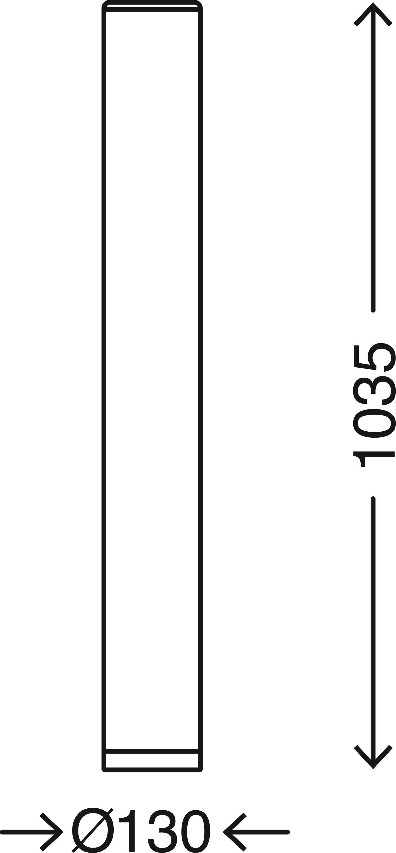 STERNENHIMMEL LED Stehleuchte, 103,5 cm, 12 W, Weiss-Chrom