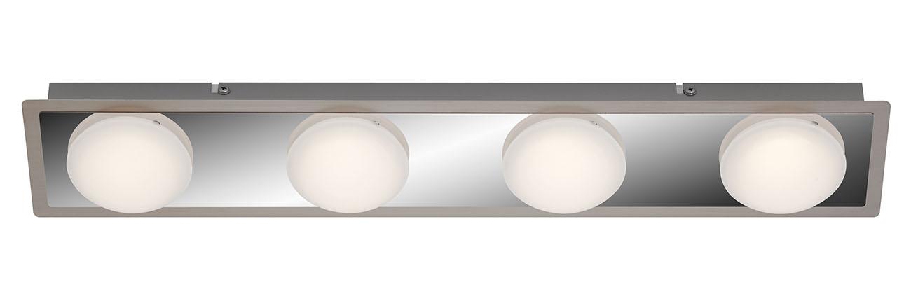 LED Deckenleuchte, 55 cm, 18 W, Chrom-Matt-Nickel