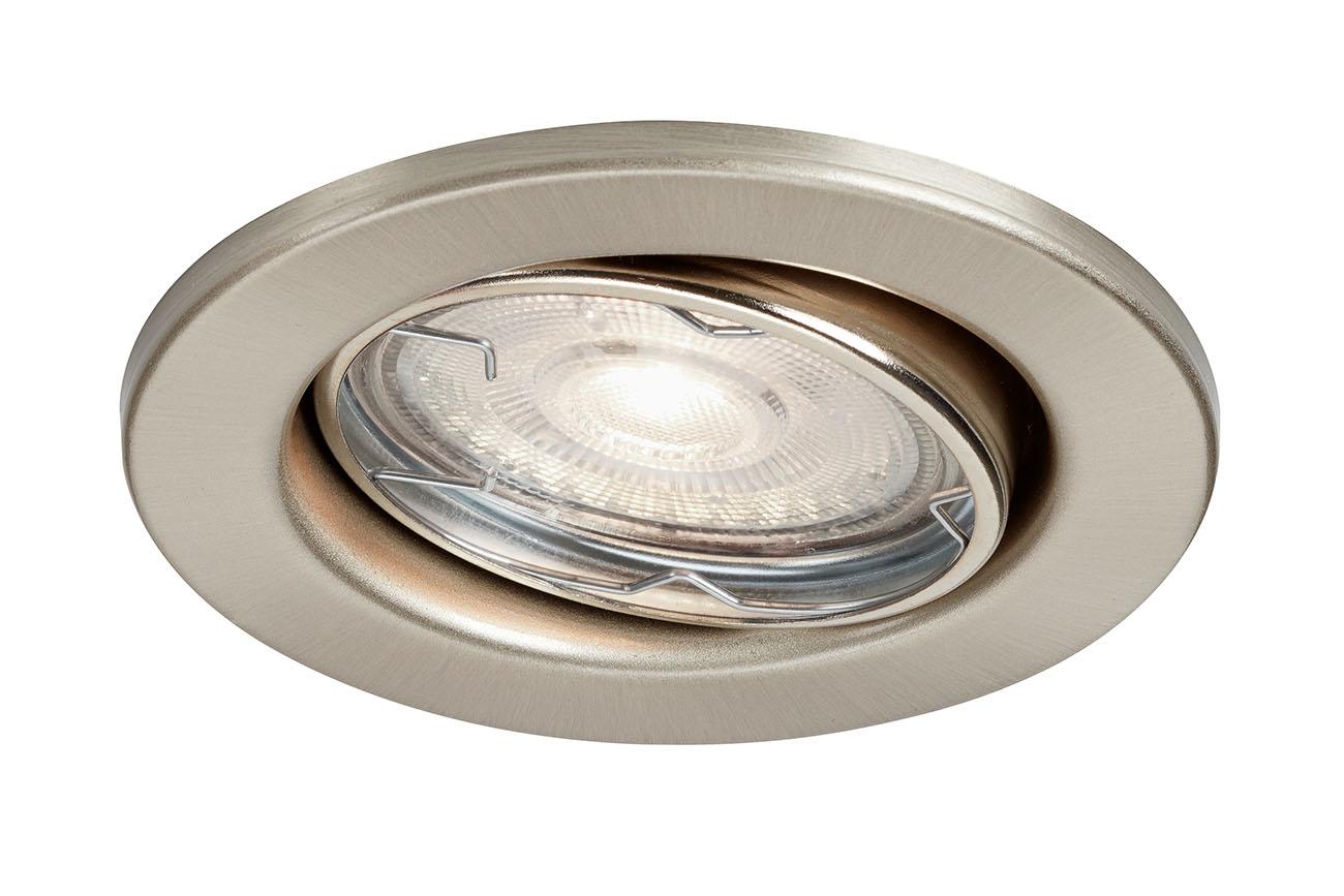 3er Set LED Einbauleuchte, Ø 8,6 cm, 4 W, Matt-Nickel