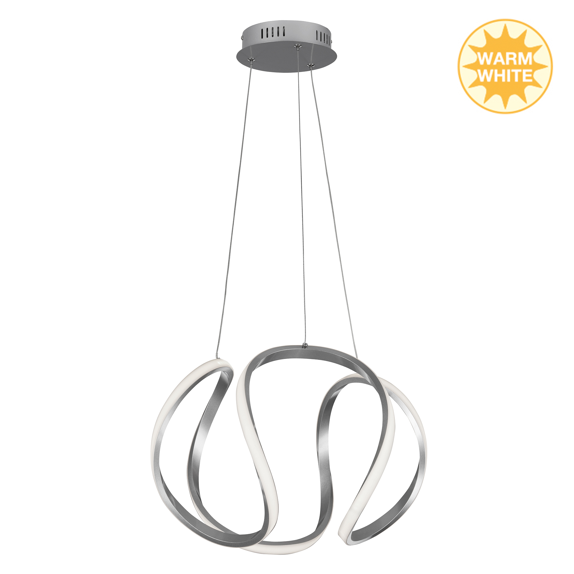 LED Pendelleuchte, Ø 42,5 cm, 40 W, Alu