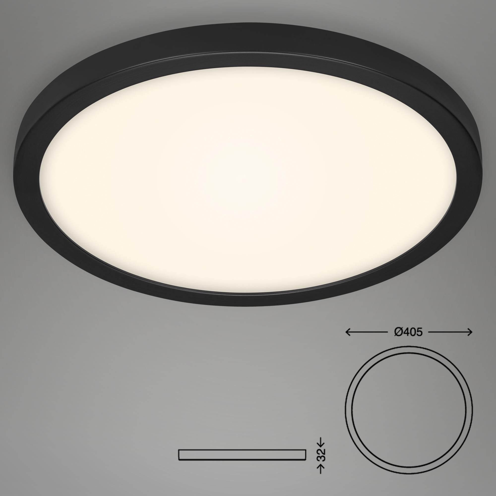LED Deckenleuchte Schwarz